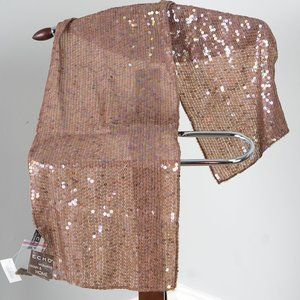 NWT sparkling iridescent sequin nude scarf